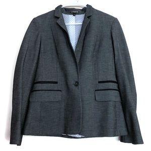 Express charcoal blazer padded shoulder grey gray